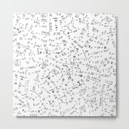 Equation Overload II Metal Print