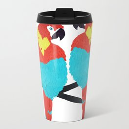 Cuban Macaw. Metal Travel Mug