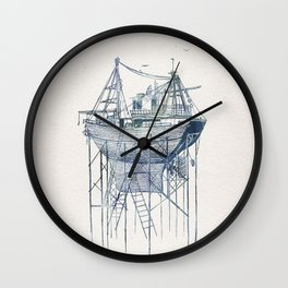 Dry Dock II Wall Clock