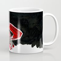 crab Mugs featuring Crab by Lieke Mulder