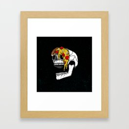 Pizza Face - colored Framed Art Print