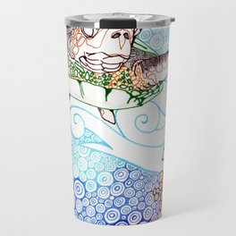 Scuba in Belize Color Travel Mug
