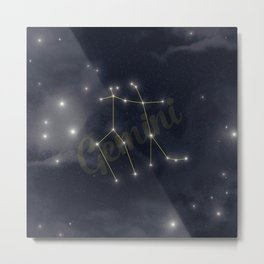 Gemini Constellation - Zodiac Metal Print
