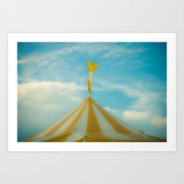Yellow Tent in Sunny Haze Art Print