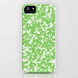 Green Flash Pixels iPhone Case
