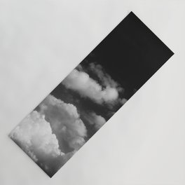 Clouds in black and white Yoga Mat