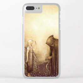 """The Golden Key"" John Bauer Watercolor Clear iPhone Case"