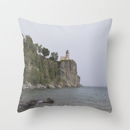 Splitrock Lighthouse Throw Pillow