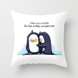 Lottle Penguins Throw Pillow