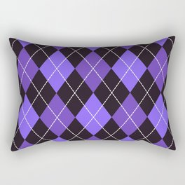 Dashed diamond check purple & black for Halloween Rectangular Pillow
