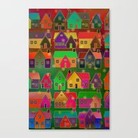 merry christmas Canvas Prints featuring Merry Christmas! by Klara Acel