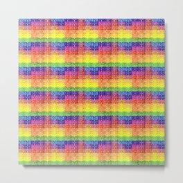 Rainbow Patchwork Design in High Definition Metal Print