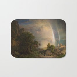 Aegean Sea Landscape by Frederic Edwin Church Bath Mat