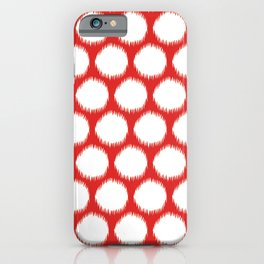 Red Asian Moods Ikat Dots iPhone Case