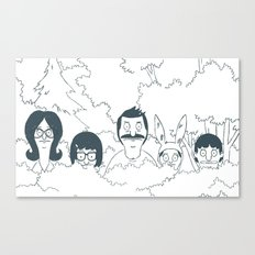 Belchers behind bushes Canvas Print
