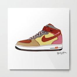 Airforce 1 Air Pop Art Sneakers 9th Edition Metal Print