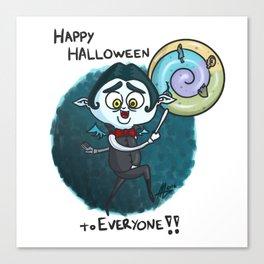 Vampy - Happy Halloween to Everyone!! Canvas Print