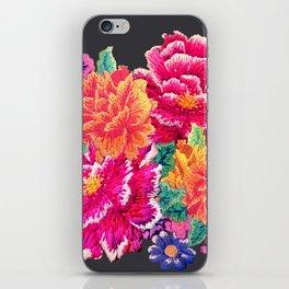 Oriental Peony Embroidery iPhone Skin