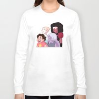 steven universe Long Sleeve T-shirts featuring Steven Universe by Lisa Lynne Lumos