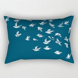 Flying Free (on Blue) Rectangular Pillow