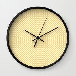 Lemon Drop and White Polka Dots Wall Clock
