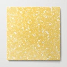 Primrose Yellow Polka Dot Bubbles Metal Print