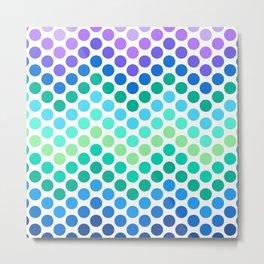 Dot Chevron: Blue Purple Metal Print