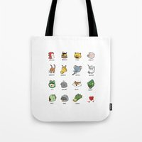 hotline miami Tote Bags featuring Hotline Miami by Jarvis Glasses