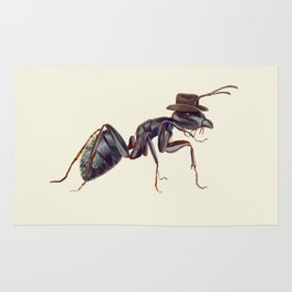 Ant with a Cowboy Hat Rug