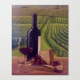 Wine in the Vineyard Canvas Print