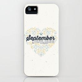 September iPhone Case