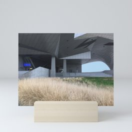 Grass and concrete Mini Art Print