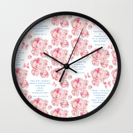 Wrap yourself in the promises of God Wall Clock
