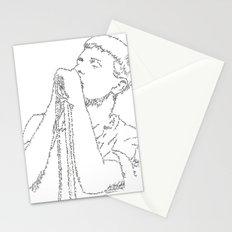 Ian Curtis WordsPortrait Stationery Cards