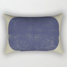 Black and Gold Circle 09 Rectangular Pillow