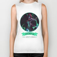 league of legends Biker Tanks featuring League Of Legends - Cassiopeia by TheDrawingDuo