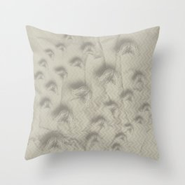 Butterfly swarm on textured chevron pattern Throw Pillow
