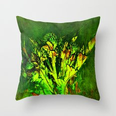 Thistle and Weeds Throw Pillow