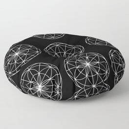 black mandala Floor Pillow