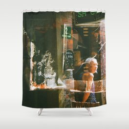 Shanghai Code Shower Curtain
