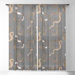 Plenty of Pythons - Dark Sheer Curtain
