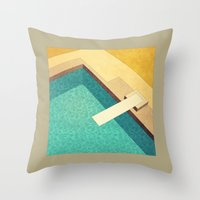 pool Throw Pillows featuring Pool by Herb Vaine