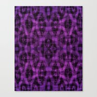 ikat Canvas Prints featuring Ikat by Charlene McCoy