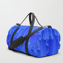 Melted, blue Duffle Bag