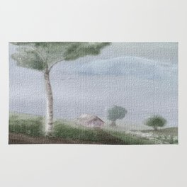 A stroll down country lane Rug