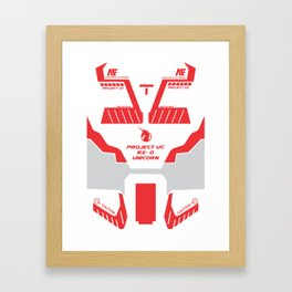 gundam unicorn 1b Framed Art Print