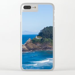 From Far Away - Heceta Head Lighthouse Clear iPhone Case
