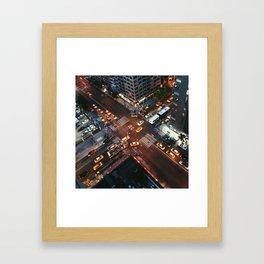 Taxi Central Framed Art Print
