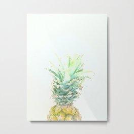 Pineapple slice - mosaic Metal Print