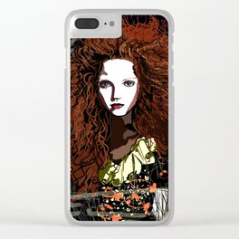 Redhead Girl Clear iPhone Case